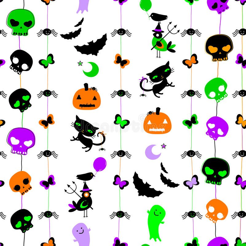 Nahtloses Muster Halloweens lizenzfreie abbildung