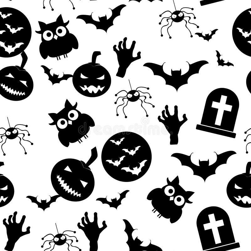 Nahtloses Muster Halloweens Es kann für Leistung der Planungsarbeit notwendig sein lizenzfreie abbildung