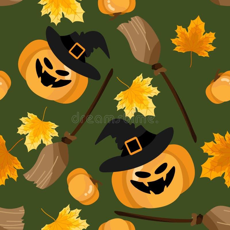 Nahtloses Muster Halloweens vektor abbildung