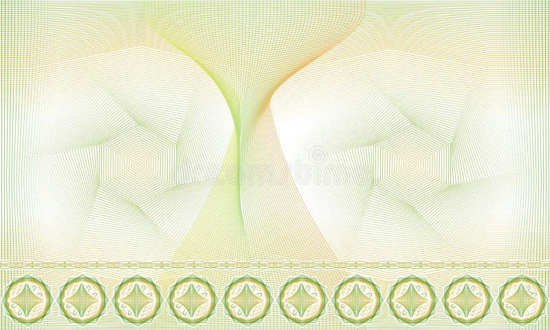 Nahtloses Muster, Hintergrund, dekorative Guillocherosette für Zertifikate oder Diplome stock abbildung