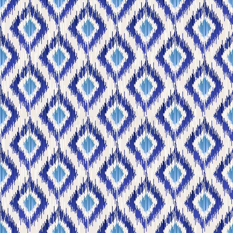 Nahtloses Muster Ikat lizenzfreie abbildung