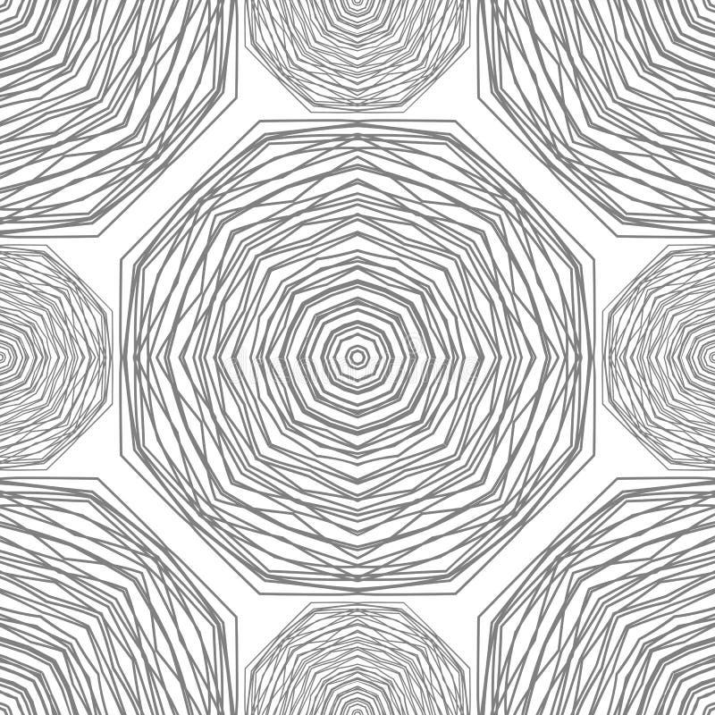 Nahtloses Muster Kreisförmiger stilvoller Hintergrund Vektor, der Beschaffenheit wiederholt stock abbildung