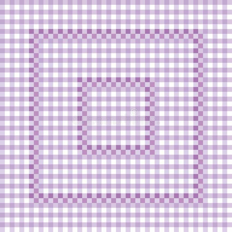 Nahtloses Muster - lila karierte Tischdecke Dekorative ENV-Dateien lizenzfreie abbildung