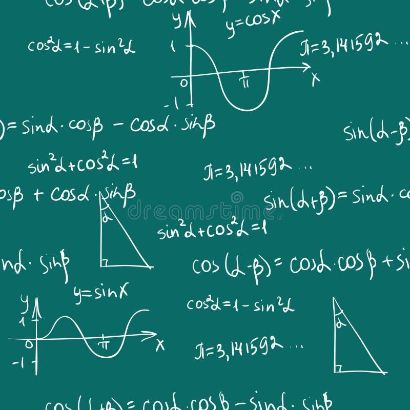 Nahtloses Muster Mathe lizenzfreie abbildung