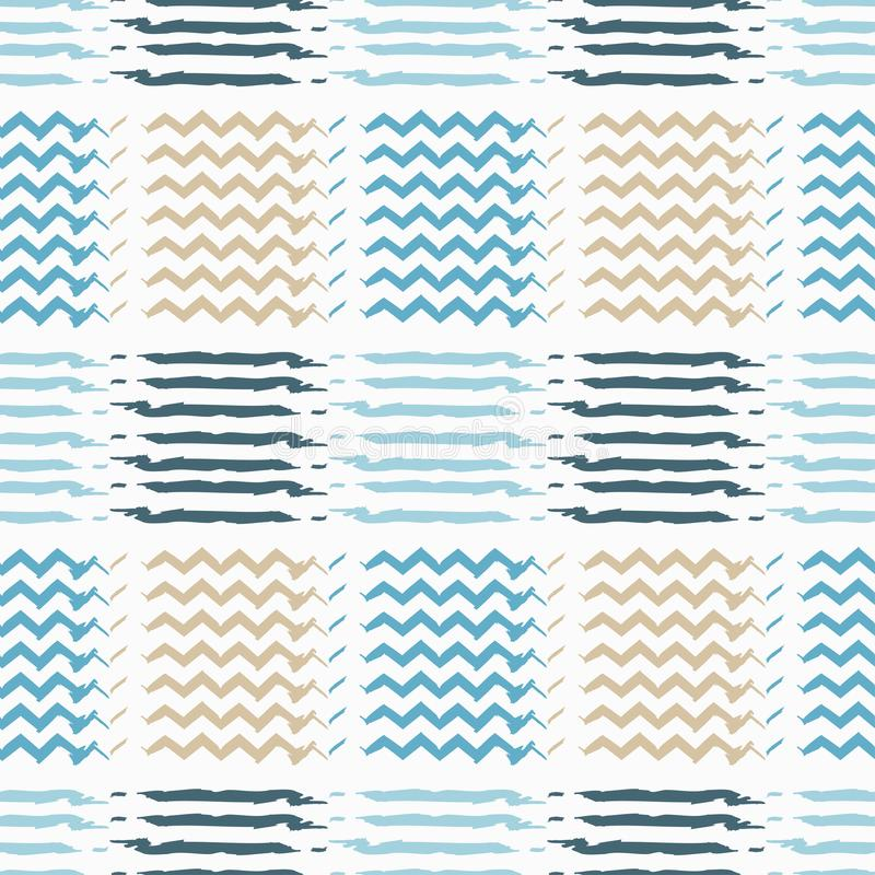 Nahtloses Muster Memphis brushwork vektor abbildung