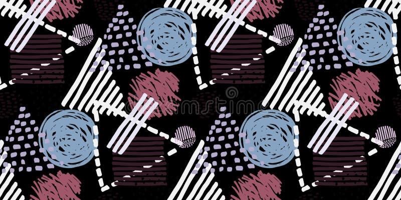 Nahtloses Muster Memphis im Retrostil stock abbildung