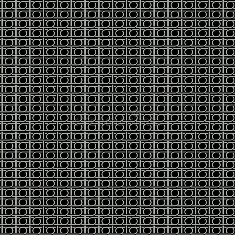 Nahtloses Muster - Metallhintergrund stock abbildung