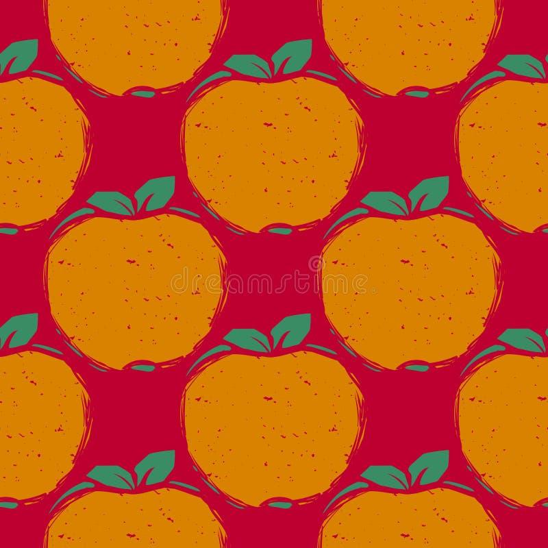 Nahtloses Muster mit Äpfeln lizenzfreie abbildung