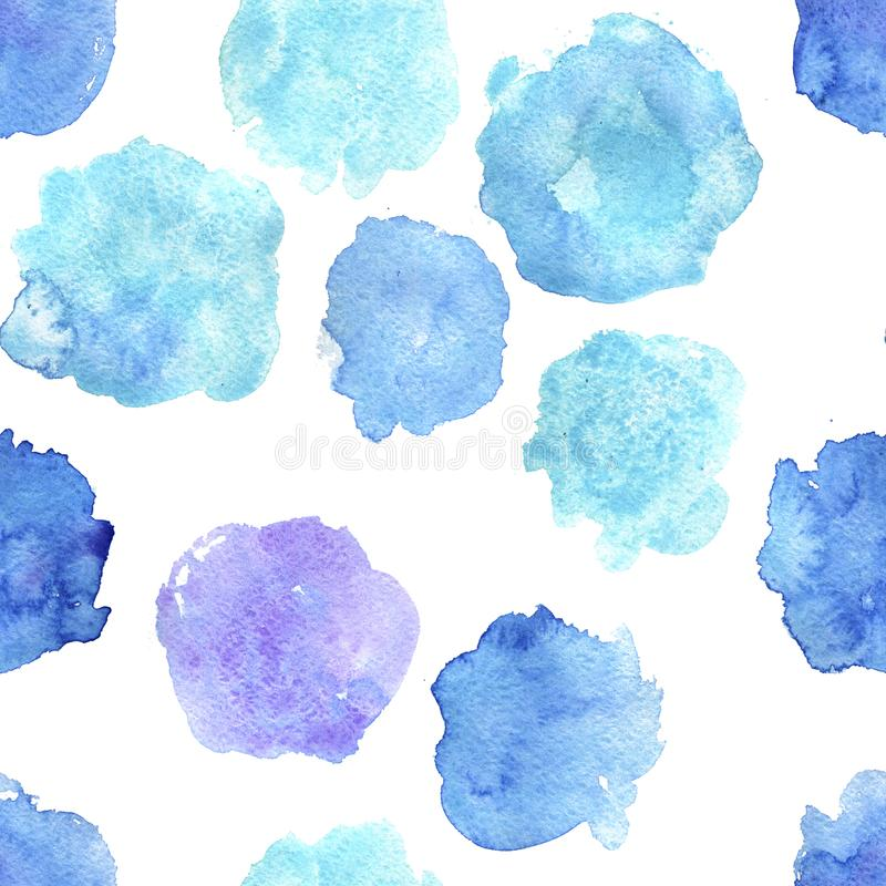 Download Nahtloses Muster Mit Aquarellstellen Stock Abbildung - Illustration von pinsel, spritzen: 106802206