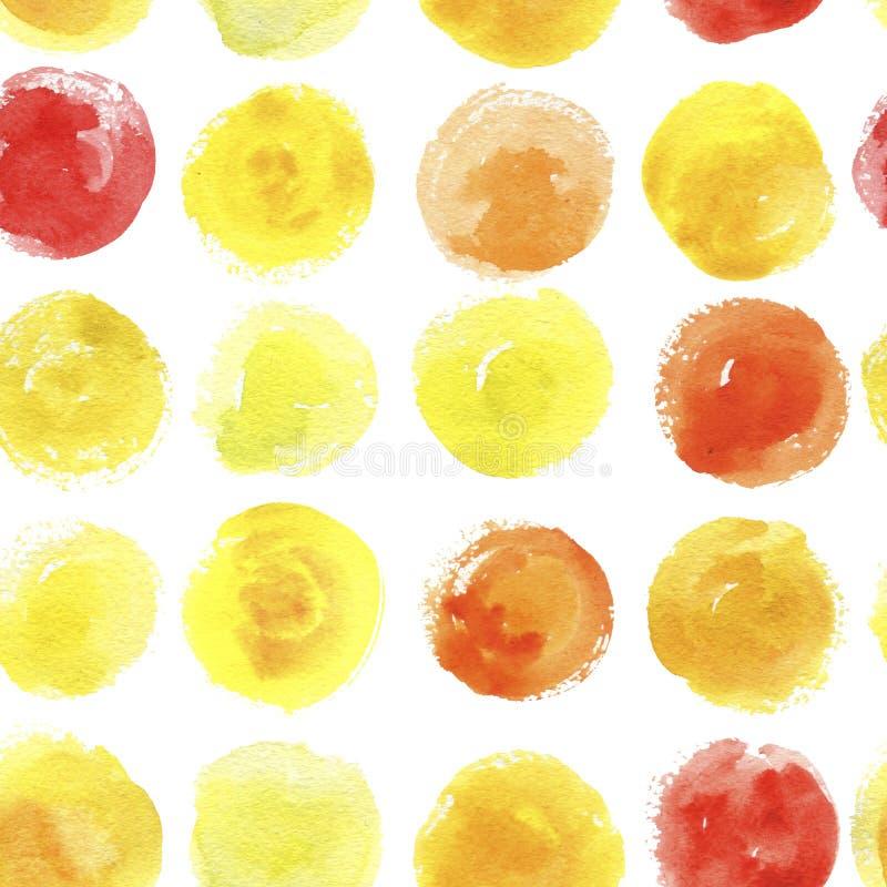 Download Nahtloses Muster Mit Aquarellstellen Stock Abbildung - Illustration von auszug, nahtlos: 106802331
