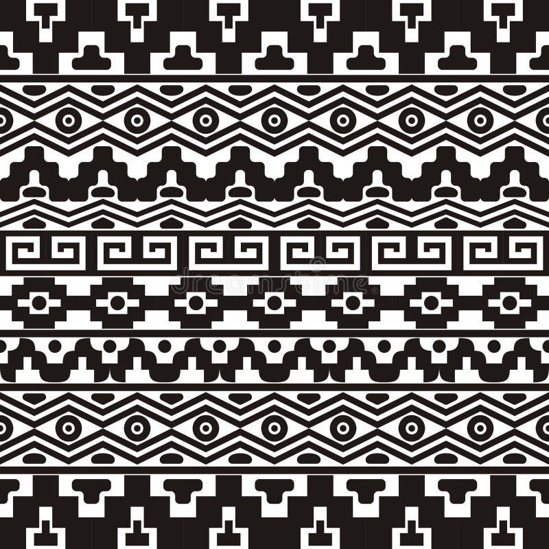 Nahtloses Muster mit aztekischen Verzierungen lizenzfreie abbildung