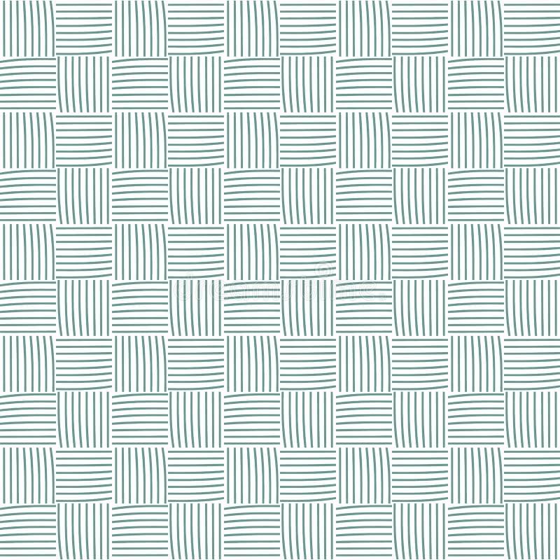Nahtloses Muster mit Bällen des Garns Hintergrund in der Karikaturart Einfache Grafiken Vektor vektor abbildung