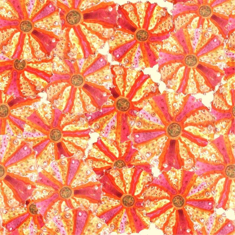 Nahtloses Muster mit Bengel watercolor lizenzfreie abbildung