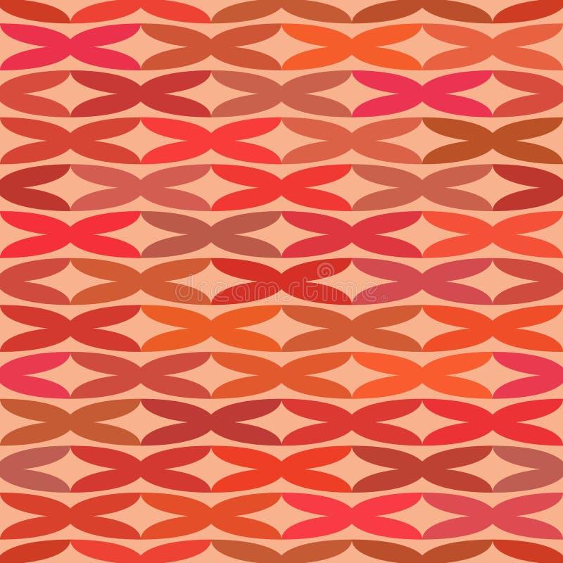 Nahtloses Muster mit bestellter Anordnung für abstrakte geometrische Formen Das Bild von den flachen Kreuzen, die Wellen simulier vektor abbildung
