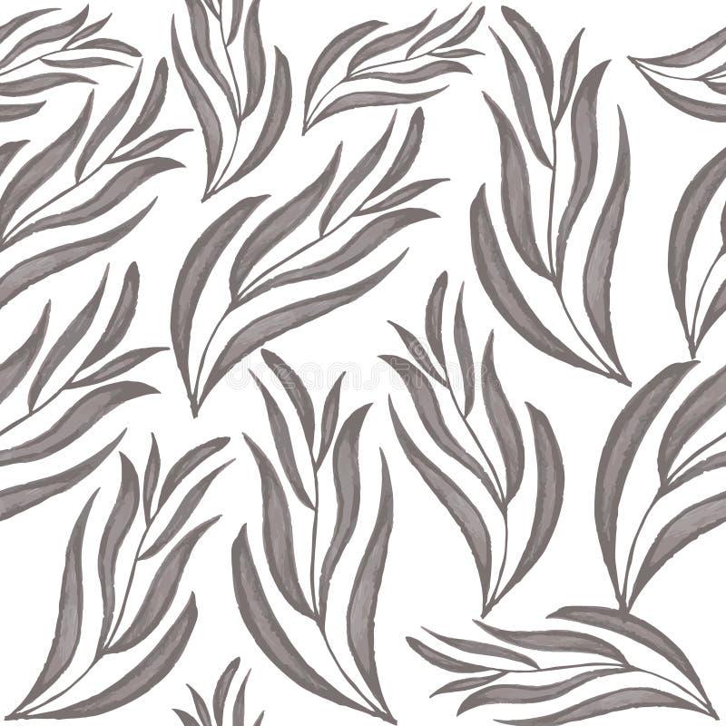 Nahtloses Muster mit Blättern stockbilder