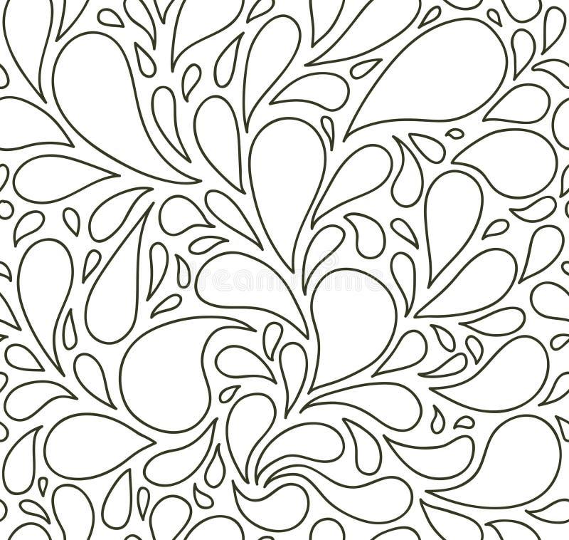 Nahtloses Muster mit Blasen oder Tropfen Rebecca 6 Hintergrund stock abbildung