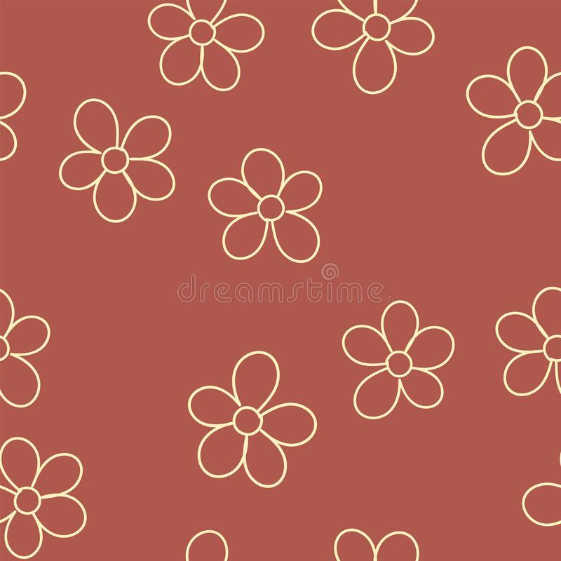 Nahtloses Muster mit Blumen für Ihr Design Vektor lizenzfreie abbildung