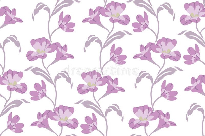 Nahtloses Muster mit Blumen-Vektor stockfotografie