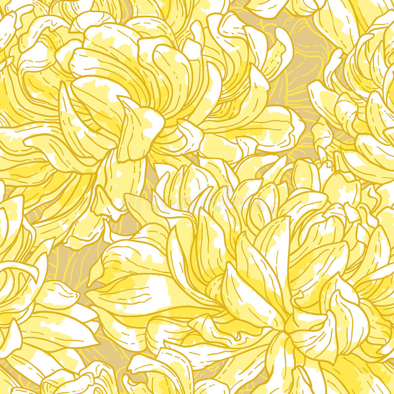 Nahtloses Muster mit Chrysantheme stock abbildung