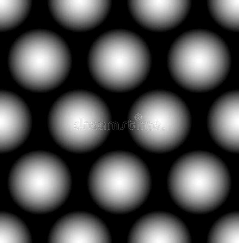 Nahtloses Muster mit den verblaßten Kreisen - punktiert, polkadot Muster, lizenzfreie abbildung