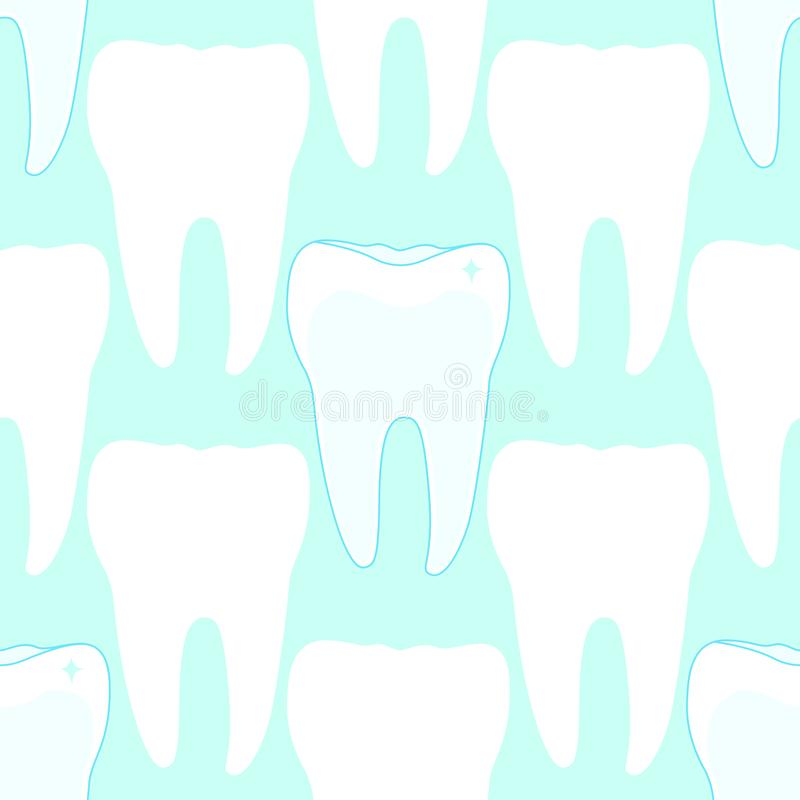 Nahtloses Muster mit den Zähnen lizenzfreie abbildung