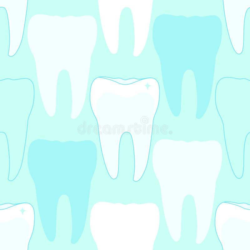 Nahtloses Muster mit den Zähnen stock abbildung