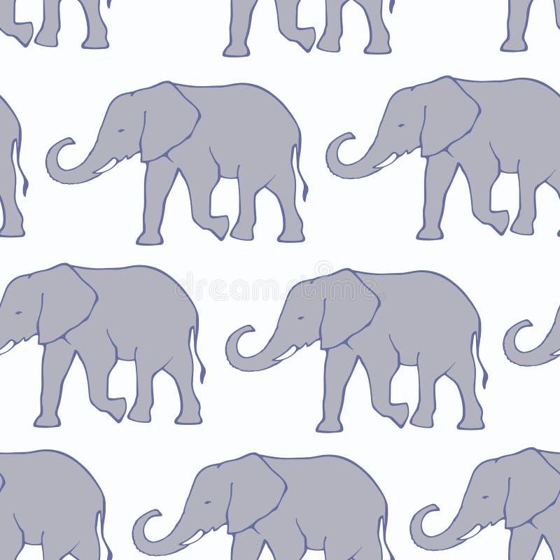 Nahtloses Muster mit Elefanten vektor abbildung