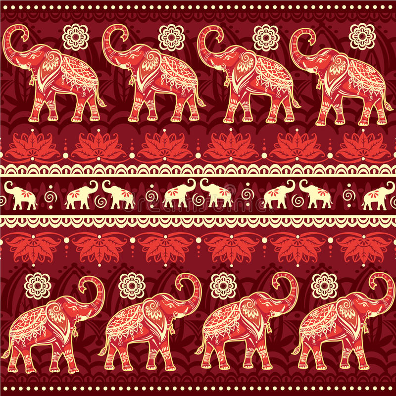 Nahtloses Muster mit Elefanten stock abbildung