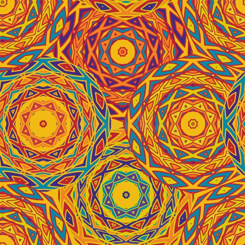 Nahtloses Muster mit ethnischer geometrischer Verzierung stock abbildung
