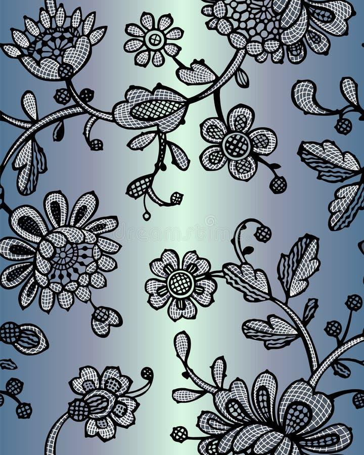 Nahtloses Muster mit Fantasieblumen Vektorzusammenfassungsnahtloses Blumenmuster Lase-Muster Schablone kann f?r Tapete benutzt we lizenzfreie abbildung