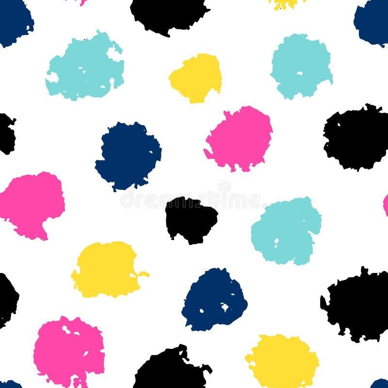 Nahtloses Muster mit farbigen Punkten lizenzfreie abbildung