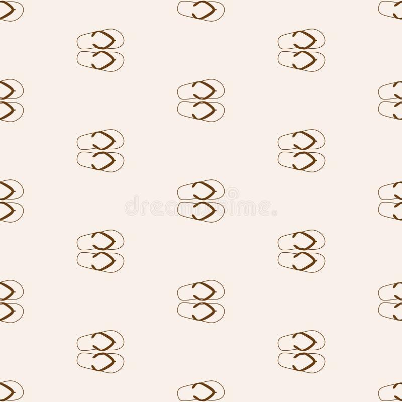 Nahtloses Muster mit Flipflops Auch im corel abgehobenen Betrag vektor abbildung