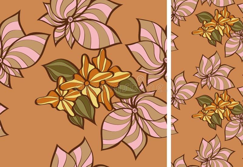 Nahtloses Muster mit flowersvvvv lizenzfreie abbildung