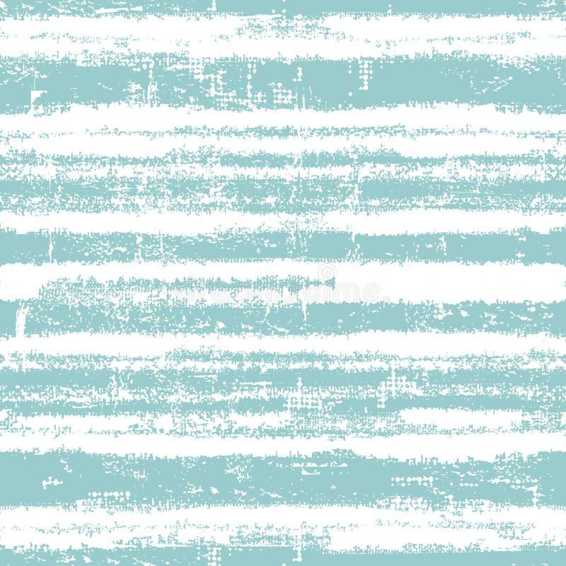 Nahtloses Muster mit frischen blauen Streifen vektor abbildung