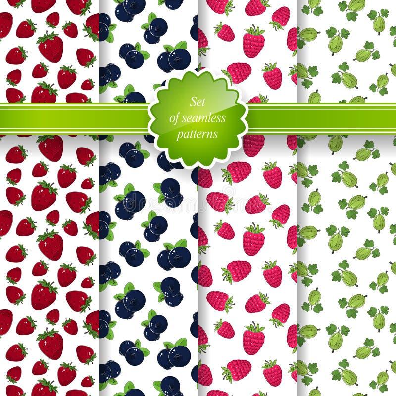 Nahtloses Muster mit Frucht-Hintergrund stock abbildung