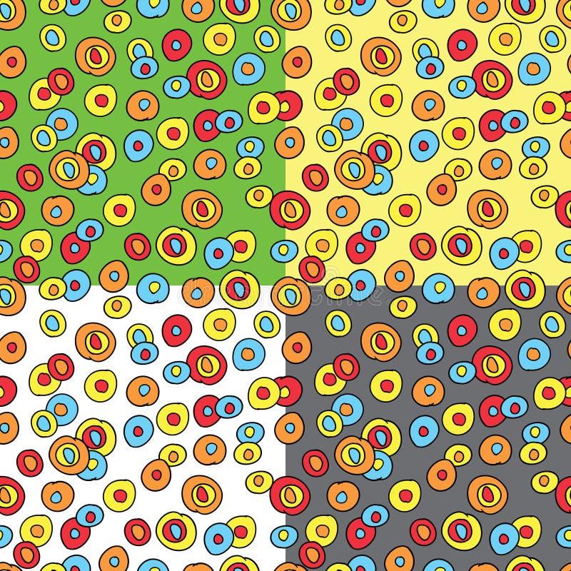 Nahtloses Muster mit Gekritzel cicrles stock abbildung