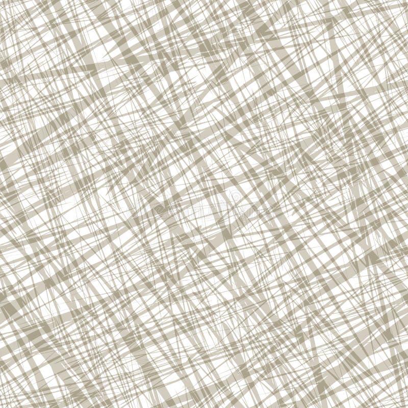 Nahtloses Muster mit gelegentlicher Fadenkreuzbeschaffenheit stock abbildung