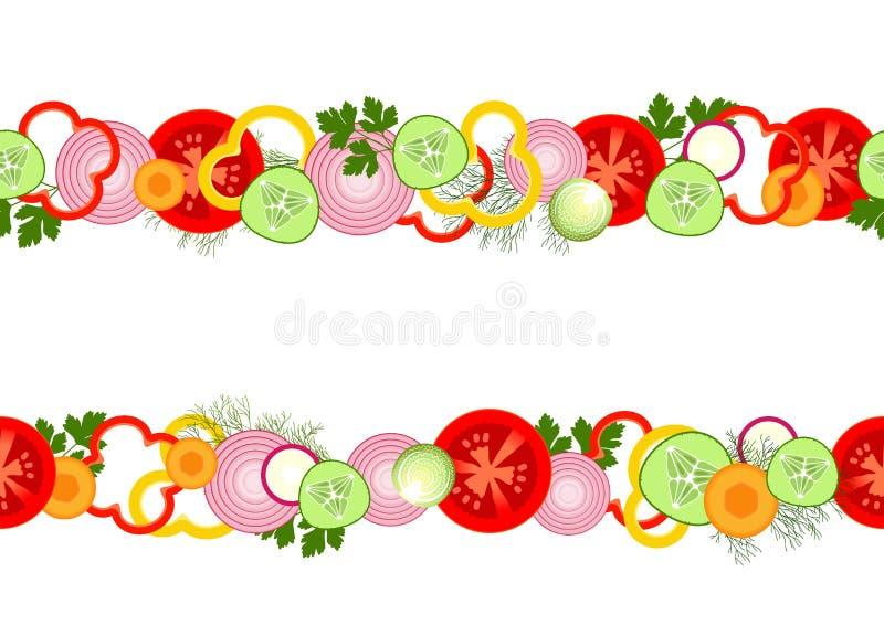 Nahtloses Muster mit Gemüse lizenzfreie abbildung