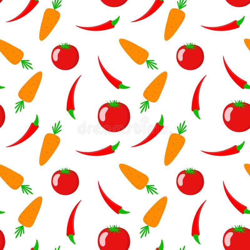 Nahtloses Muster mit Gemüse Auch im corel abgehobenen Betrag lizenzfreie abbildung