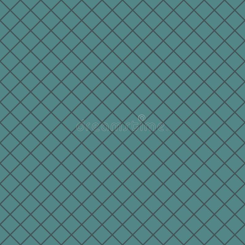 Nahtloses Muster mit geometrischer Verzierung Schrägstreifengrillhintergrund Überfahrt zeichnet Tapete Dünne Linie Gitter stock abbildung