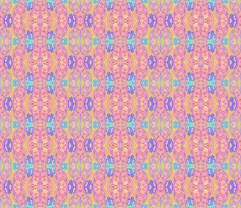 Nahtloses Muster mit gewellten Linien Rosablau lizenzfreie abbildung