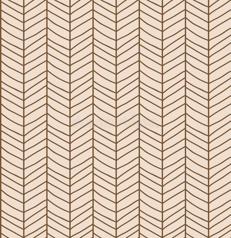 Nahtloses Muster mit Hand gezeichneter Sparrenlinie Gitter, Vektor illus stock abbildung