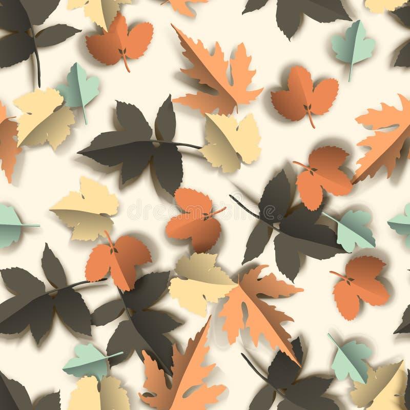 Nahtloses Muster mit Herbstblättern stock abbildung