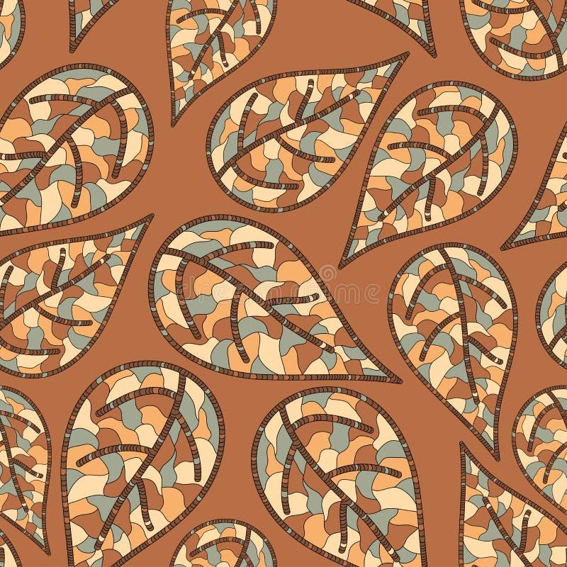 Download Nahtloses Muster Mit Herbstblättern Stock Abbildung - Illustration von betrieb, endlos: 26374065