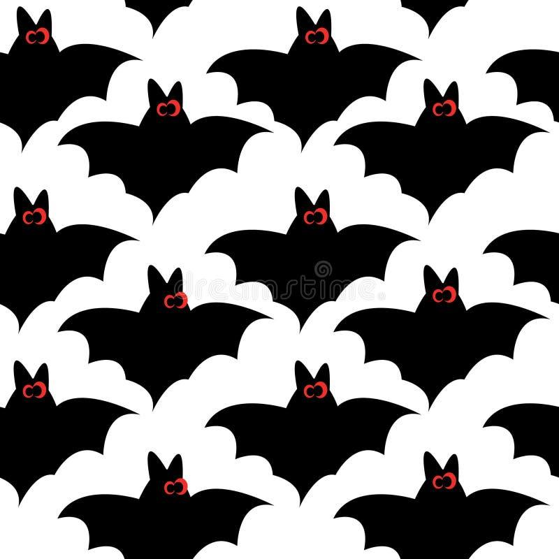 Nahtloses Muster mit Hieben für Halloween lizenzfreie abbildung