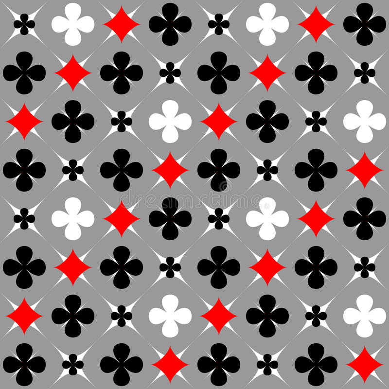 Nahtloses Muster mit Karte entspricht Motiv. vektor abbildung