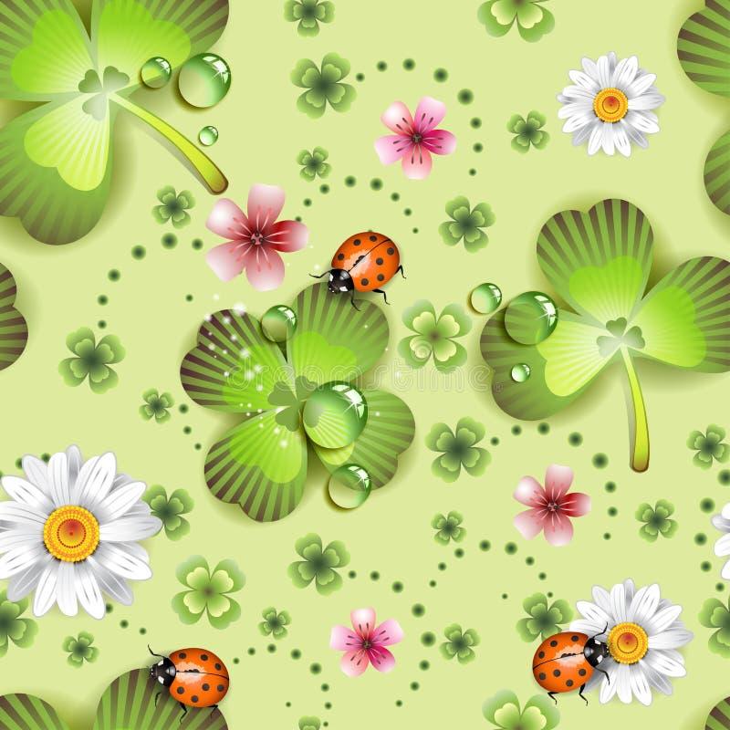 Nahtloses Muster mit Klee lizenzfreie abbildung