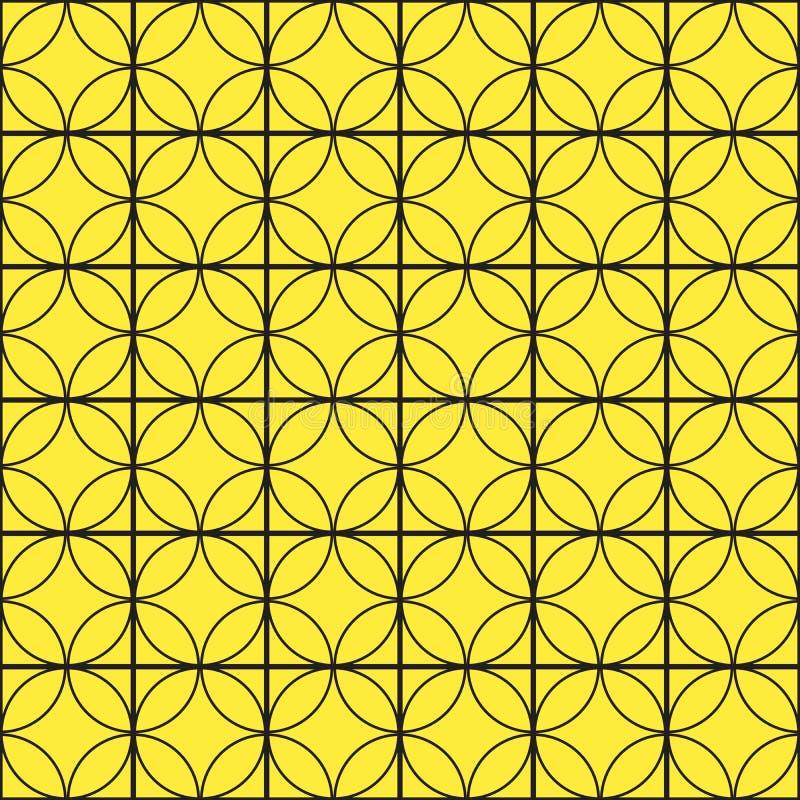 Nahtloses Muster mit Kreis entziehen Sie Hintergrund Auch im corel abgehobenen Betrag lizenzfreie abbildung