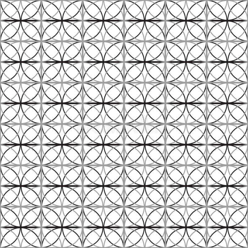 Nahtloses Muster mit Kreis entziehen Sie Hintergrund Auch im corel abgehobenen Betrag vektor abbildung