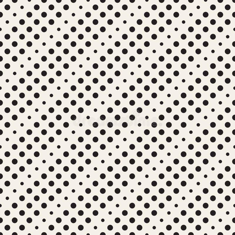 Nahtloses Muster mit Kreisen stock abbildung